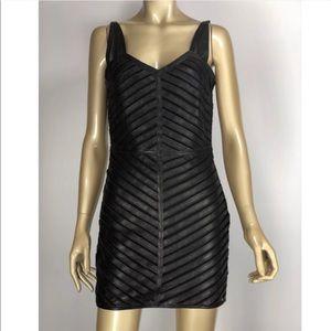 Parker Leather structured mini dress size XS